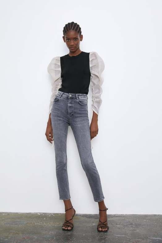 gray zara jeans